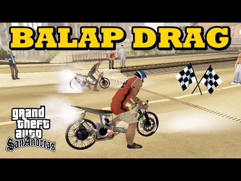 Video Balap Liar Motor Drag Paling Gokil - GTA San Andreas Mod!