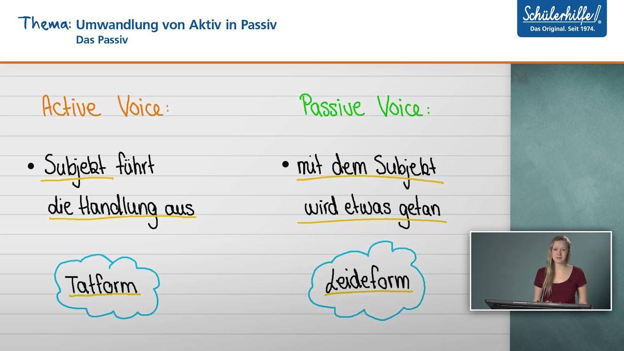 Umwandlung von Aktiv in Passiv // Das Passiv // Englisch // Schülerhilfe Lernvideo