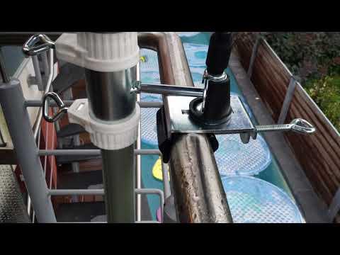 Drehbare Balkon-Sonnenschirm-Halter - von Helmut Pilz