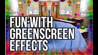Greenscreen Chromakey Manycam Teaching on the cheap