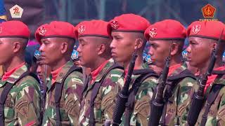 Upacara HUT TNI ke 72 Di Cilegon Banten Tahun 2017