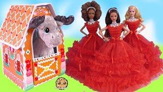 New Holiday Barbie Dolls + Build A Bear Christmas Haul - Cookie Swirl C