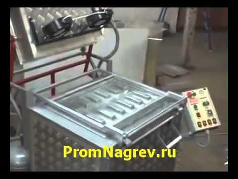 Вакуум-формовочная машина ВФ А650 в работе
