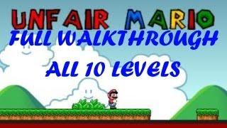Unfair Mario Level 1-10 Complete Walkthrough/playthrough