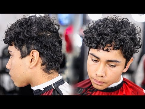 HAIRCUT TUTORIAL: CURLY HAIR DROP FADE
