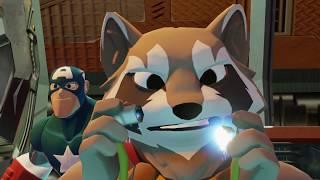 Капитан Америка Игрушки Учим цвета Мультики для детей с Компаньонами Мультфильмы для детей. 4K - 3D