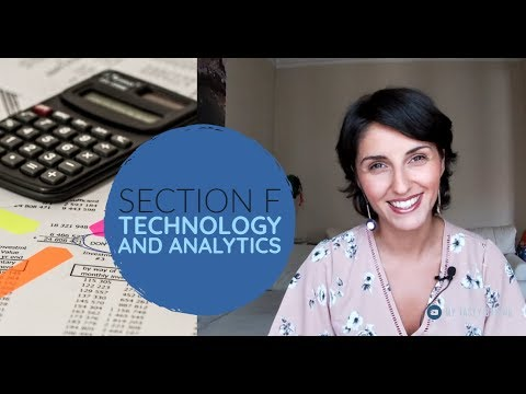 SECTION F Technology and Analytics |2020 CMA EXAM Part 1 ...