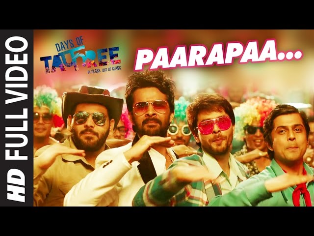 PAARAPAA Full Video Song | DAYS OF TAFREE Movie Songs | Bobby-Imran