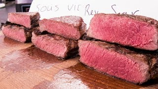 Steak Experiment -- Reversed Sear vs. Sous Vide vs. Frozen - Video Youtube