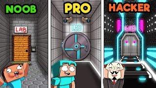 Minecraft - SECRET LABORATORY! (NOOB vs PRO vs HACKER)