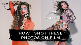 Shooting On Film For The First Time! | Studio Fashion Photography BTS