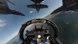 US Navy Blue Angels Over Seattle - Amazing Cockpit View