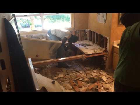 Master Bathroom Demolition Before Renovation