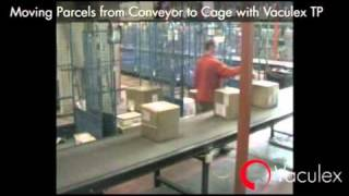 Moving Parcels from Conveyor to Cage with Vaculex TP