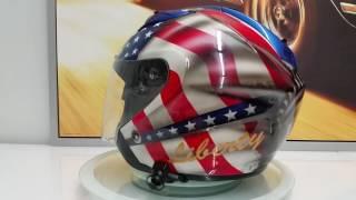 Airbrush helmet liberty & justice by Orzech Custom Paint