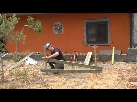 realizzo steccato in legno con il sistema Recingo