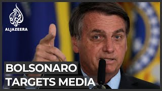 Brazil's President Bolsonaro lashes out at journalists