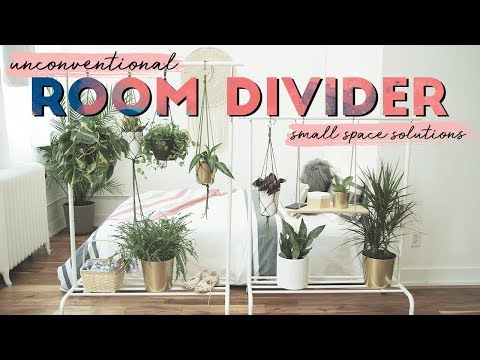 DIY Unconventional Room Divider | Small Space Solutions