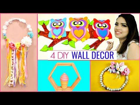 सिर्फ ₹50 में 4 DIY WALL/HOME Decoration Ideas ..  #Hacks #Recycle #Anaysa #DIYQueen