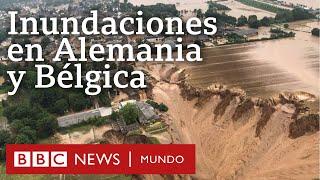 DESASTRES CLIMÁTICOS CONTINÚAN AFECTANDO ALEMANIA Y BÉLGICA