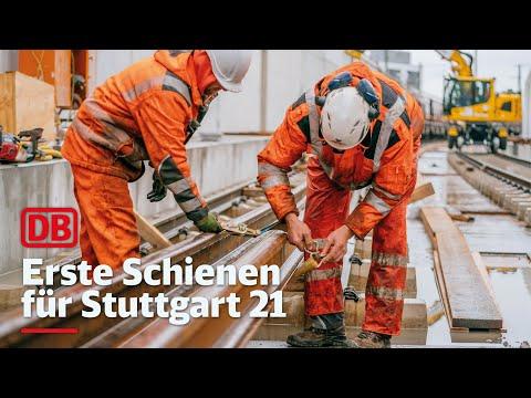 Erste Schienen für Stuttgart 21