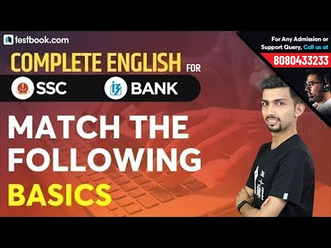 English Match the Following Questions for IBPS PO Prelims & IBPS Clerk 2019   Aditya Sir