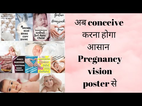 Pregnancy vision poster to conceive fastly#law of attraction-good news apke ghar bhi ayegi