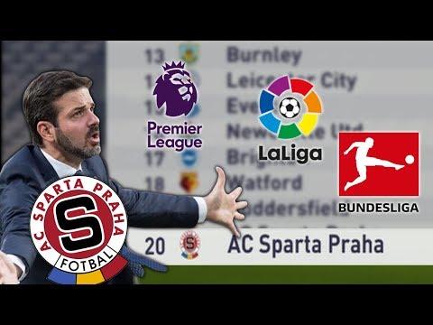 JAK BY DOPADLA SPARTA V PREMIER LEAGUE/LA LIGA/BUNDESLIGA? (FIFA 18 EXPERIMENT)