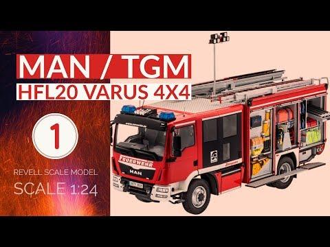 Bau des Revell HLF VARUS 4x4 MAN/Schlingmann - FEUERWEHR EP.1