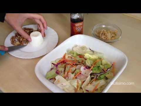 Cómo hacer ensalada con brotes de soja, queso fresco y nueces | facilisimo.com