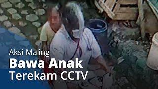 Detik-detik Pencurian Gas Elpiji 3 Kg di Solo Terekam CCTV, Pelaku Ajak Anak saat Beraksi