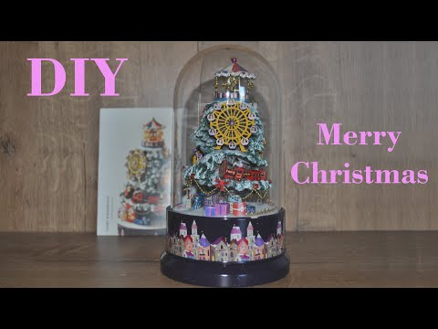 DIY Miniature Christmas Dollhouse Kit Music Box Rotating and Music World Banggood