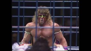 Ultimate Warrior Vs Macho King Randy Savage Cage Match, Pre Wrestlemania VII