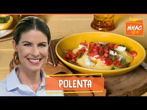 Polenta cremosa com refogado de legumes e salada caprese | Rita Lobo | Cozinha Prática