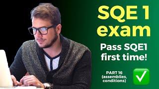 SQE1 course (2021) 🧑🎓📚 Part 16 - Assemblies, conditions