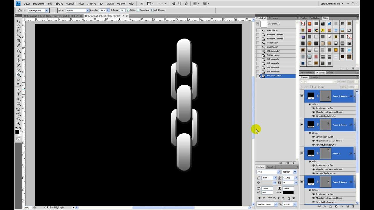 Einfache Kette erstellen – Photoshop-Tutorial