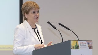 First Minister Nicola Sturgeon on Climate Justice