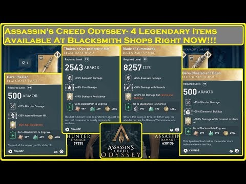 Assassin's Creed Odyssey - 4 Legendary Items Blacksmiths Have Right NOW