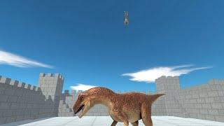 UPDATED ALLOSAURUS in Brick Castle vs ALL UNITS Animal Revolt Battle Simulator
