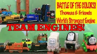 Battle Of The Colors Team Engines Thomas And Friends World's Strongest Engine