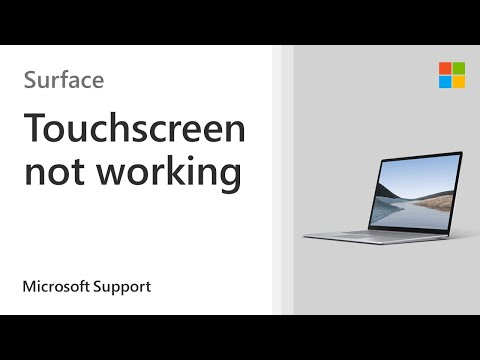 Surface touchscreen not working   Microsoft