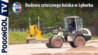 preview picture of video 'Budowa sztucznego boiska na stadionie w Lęborku #1'