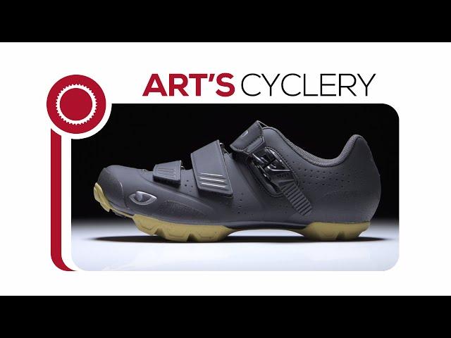 Видео Велотуфли Giro Privateer R серо-оранжевые