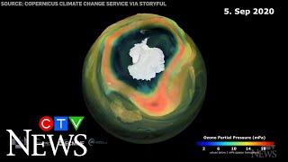 2020 ozone hole over Antarctica reaches its maximum size