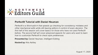 PerfectIt Tutorial with Daniel Heuman