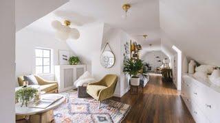 Boho Minimal & Scandinavian Style In Attic Apartment • North Carolina | Interior Design