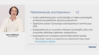 Tulorekisteri-webinaari 29.5.2018/ Anne Kyllönen: Kela valmistautuu muutokseen