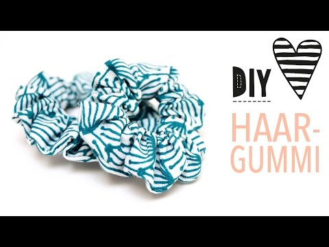 Haargummi selber machen | Kleines Zopfgummi für Mädchen nähen | DIY MODE Nähanleitung für Anfänger