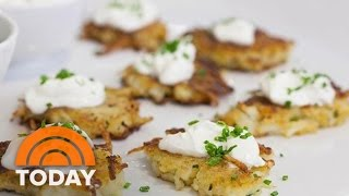 Ina Garten Makes Holiday Appetizers: Potato Pancakes, Fig And Goat Cheese Bruschetta | TODAY