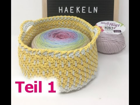 BOBBEL Tasche EINFACH Häkeln / Woolly Hugs NOBLY / Teil 1